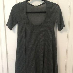 Nordstrom Short Sleeve Ribbed Sweater Dress
